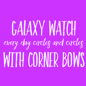 Galaxy Watch Every day Glitter CIRCLE Watch Cover