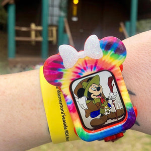 Tie Dye Mouse with Bow Watch Cover