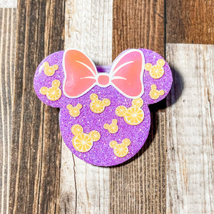 Violet Lemonade Strap and mini Backpack Clips