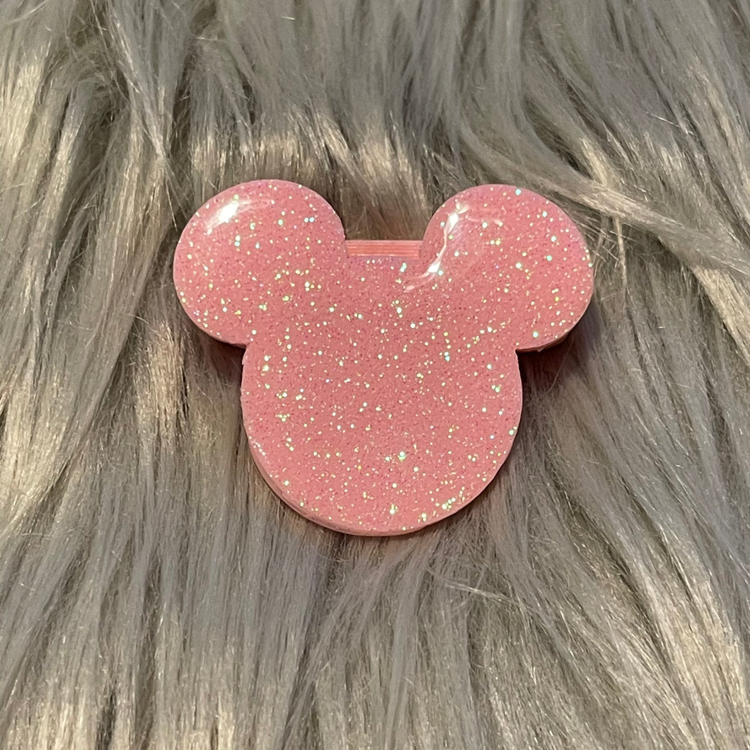 Custom Color glitter mouse NO bow strap and mini Backpack Clips