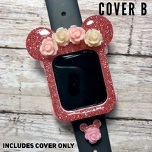 Load image into Gallery viewer, Flower Crown Mouse Watch Cover ONLY -- No Charm Floral
