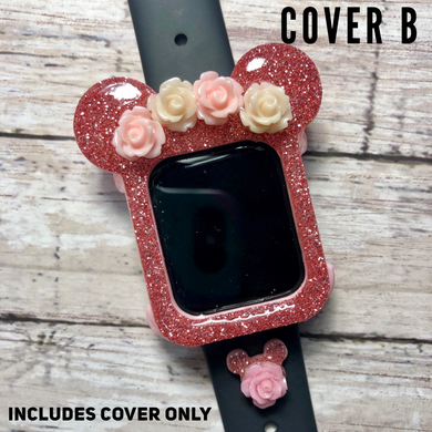 Flower Crown Mouse Watch Cover ONLY -- No Charm Floral