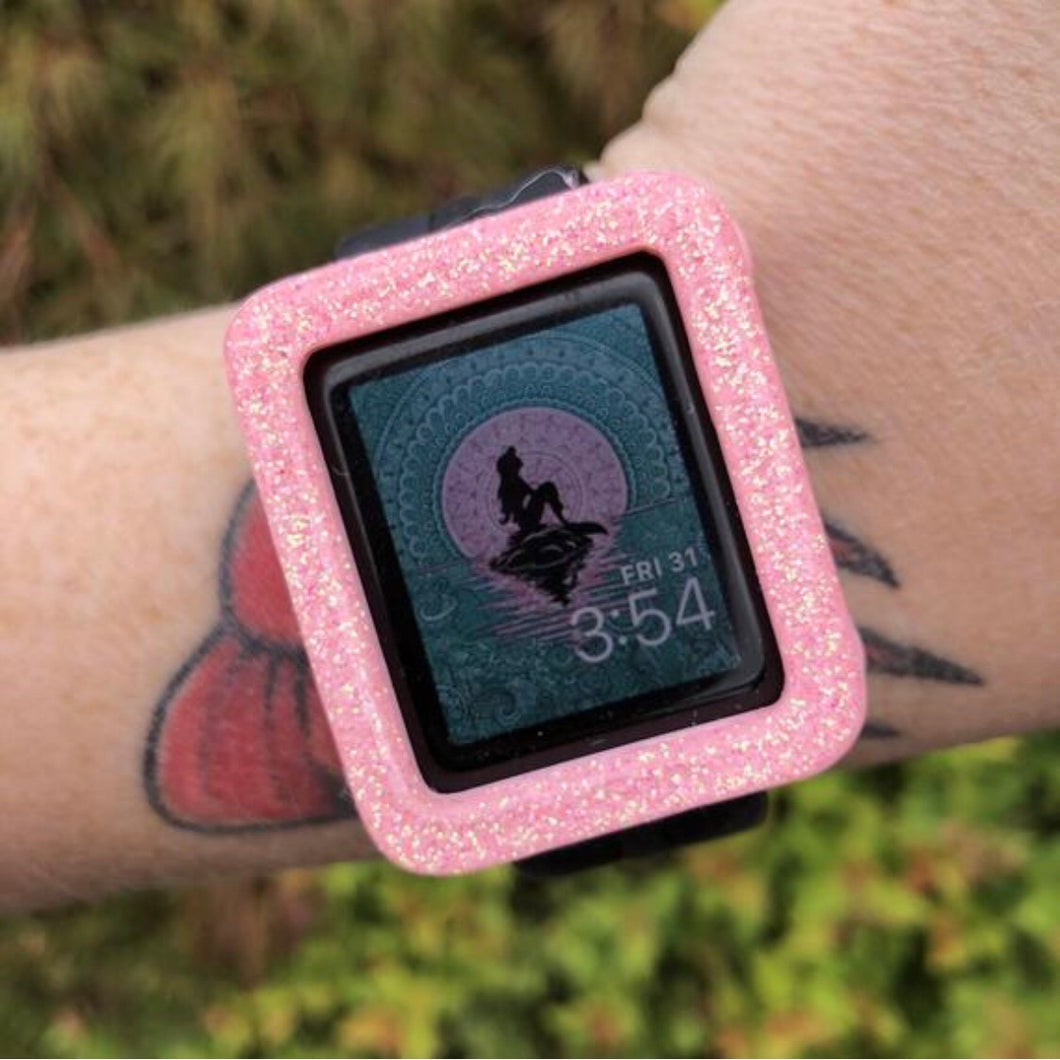 Color Glitter Everyday Square Watch Covers