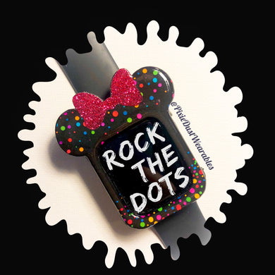 Rock the Dots Mouse with Bow Apple Watch Cover