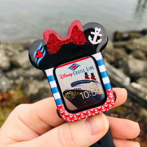 Nautical Mouse with bow Apple Watch Cover