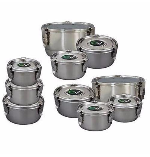 CVault Storage Container - stainless steel humidity control herbal stash chamber