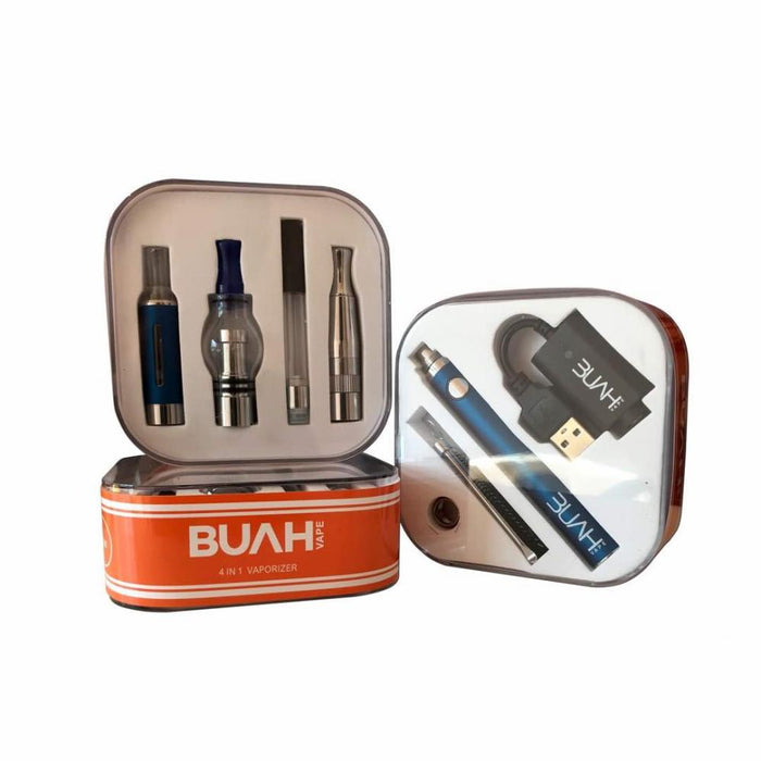 Buah 4 in 1 Vaporizer Kit For Cbd oil, Dry herb, Wax and E-Liquid.