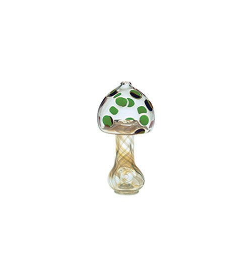 Crush Glass Standing Mushroom Spoon-Green