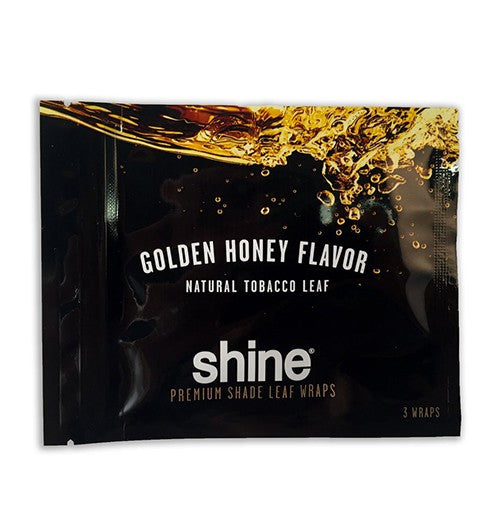 Shine Natural Shade Leaf Wraps Golden Honey 3 Wraps per a Pack