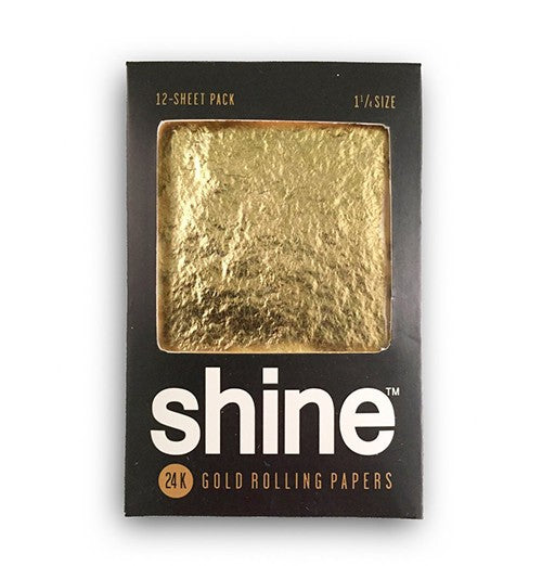 Shine 24K Gold Rolling Papers 12 Sheet Pack