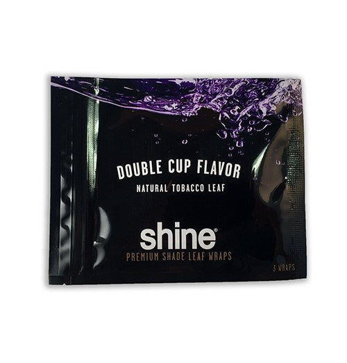 Shine Natural Shade Leaf Wraps Double Cup 3 wraps per pack