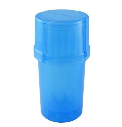 MedTainer Storage Container w/ Built-In Grinder-Blue