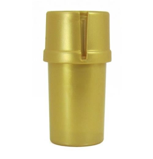 MedTainer Storage Container w/ Built-In Grinder-Gold
