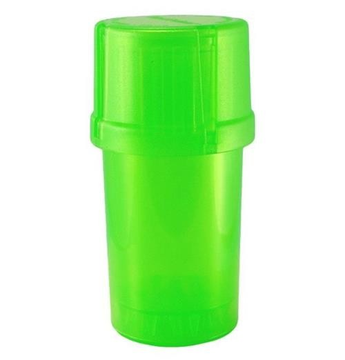 MedTainer Storage Container w/ Built-In Grinder-Green