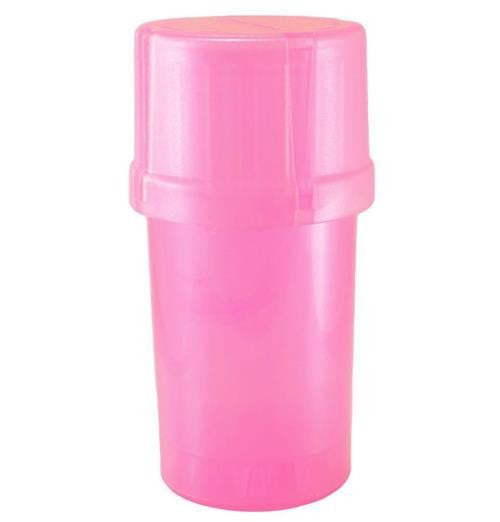 MedTainer Storage Container w/ Built-In Grinder-Pink