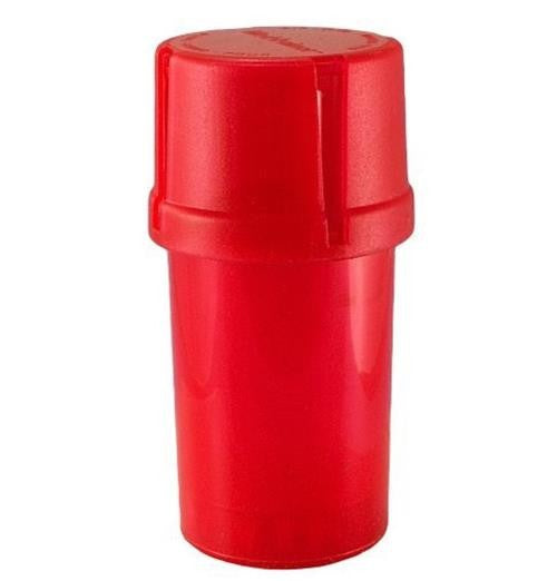 MedTainer Storage Container w/ Built-In Grinder-Red