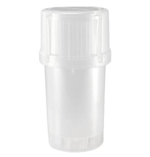 MedTainer Storage Container w/ Built-In Grinder-White