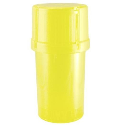MedTainer Storage Container w/ Built-In Grinder-Yellow