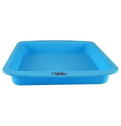"NoGoo Deep Dish Silicone Container - Approx 8""x8""-Blue"