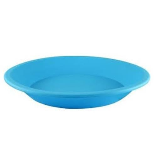 "NoGoo Silicone Plate - Approx 8"" Round-Blue"