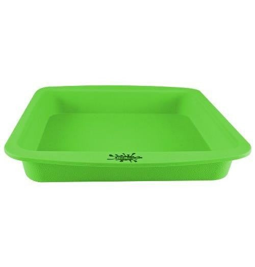 "NoGoo Deep Dish Silicone Container - Approx 8""x8""-Green"