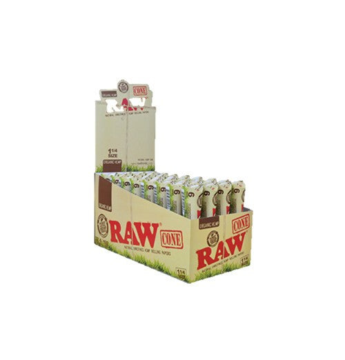 Raw Pre-Rolled Organic Cones1 1/4   6 per pack