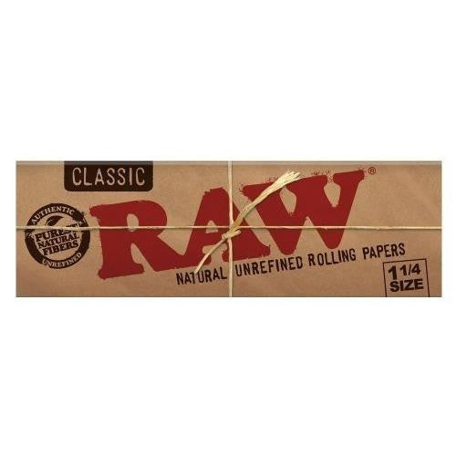 Raw Classic 1 1/4 Rolling Papers  - Pack of 6 - 50 Leaves Per Pack