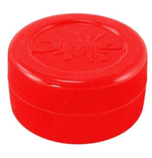 NoGoo Nonstick Silicone Large Jar -Holds Approx 10ml-Red