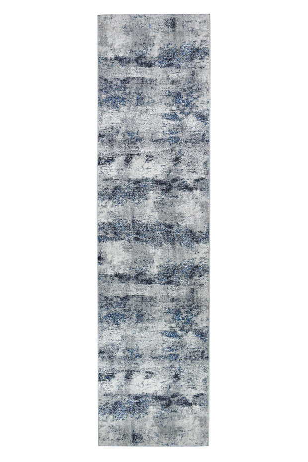 Faded Look Blue Textured Sian Runner 32667-6258