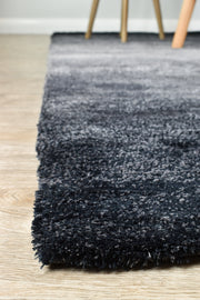 Highlight Black Grey Ombre Shaggy Rug