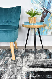Millard 347 Light Grey Turquoise Runner