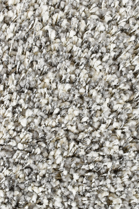 Plain Portland Shaggy Rug Grey