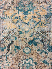 Albina Transitional Design Rug Turquoise beige