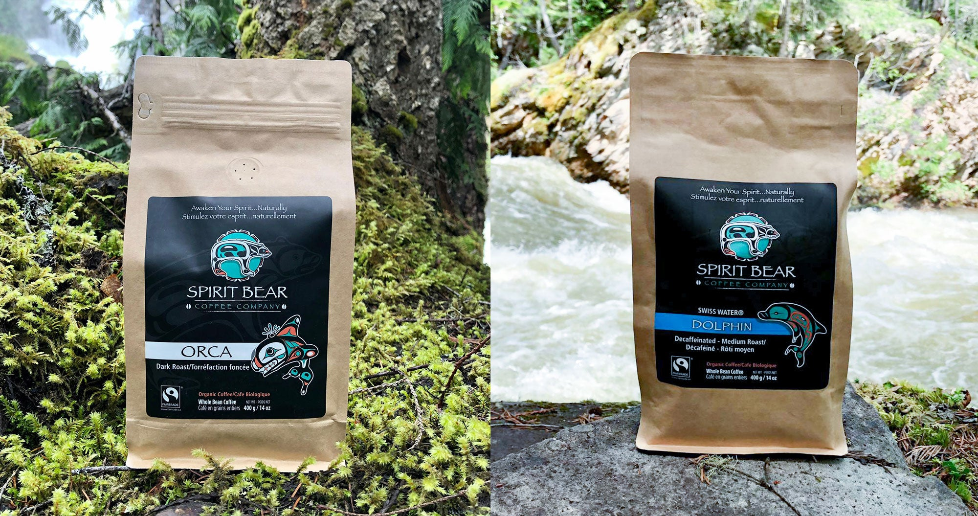 Spirit Bear Coffee Company Orca Dark Roast Dolphin Decaf