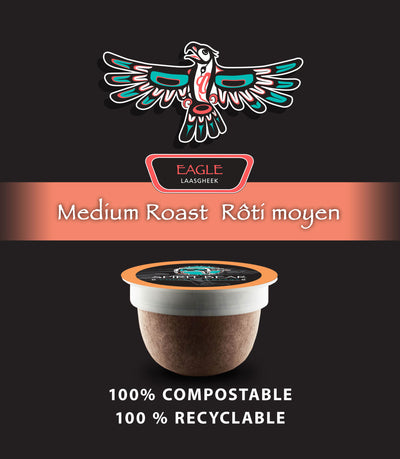 Eagle - Medium Roast Coffee Pods - Spirit Bear Coffee Company