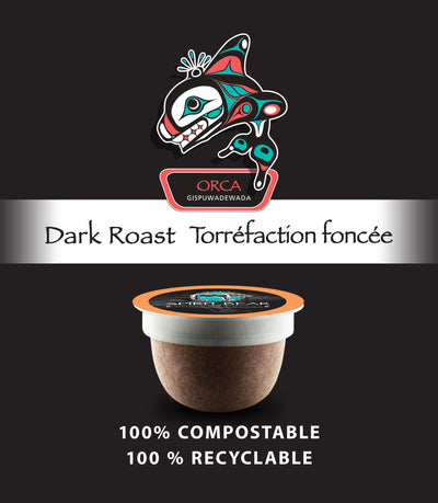 Orca - Dark Roast Coffee Pods - Spirit Bear Coffee Company
