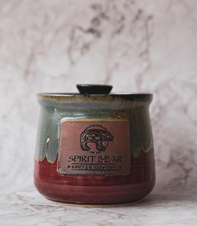 spirit bear coffee pod jar