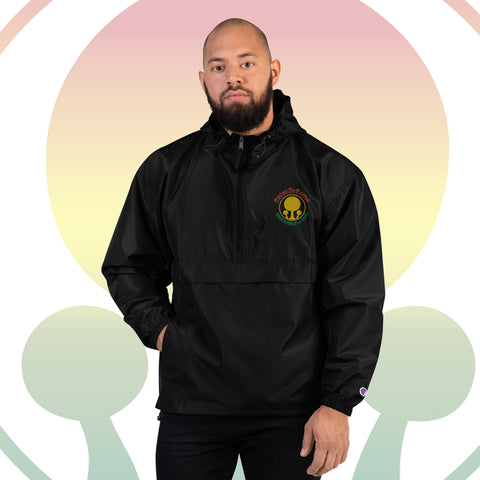 Rasta Creme Embroidered Champion Packable Jacket