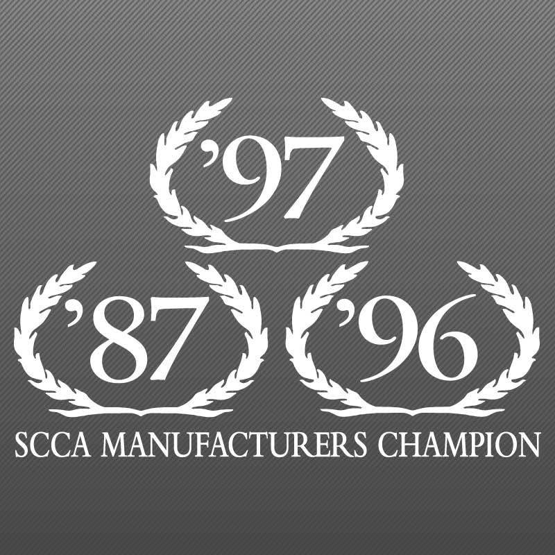 Wreath Decal, SCCA Champion, 1998 S281 S351