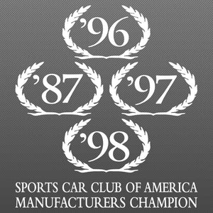 Wreath Decal, SCCA Champion, 99-00 S281 S351