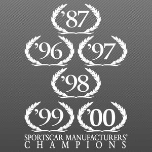 Wreath Decal, SCCA Champion, 2001 S281 S351