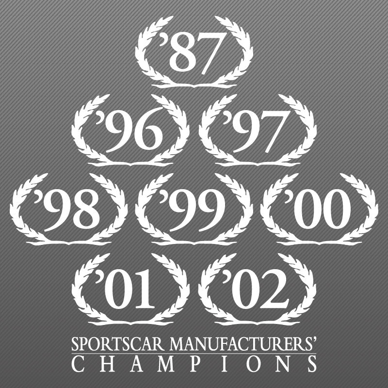 Wreath Decal, SCCA Champion, 03-06 S281 S351