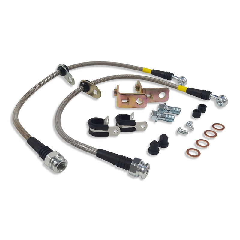 "Brake Line Kit, SS, Braided, 14"" Upgrade, 05-14 S281, S302"