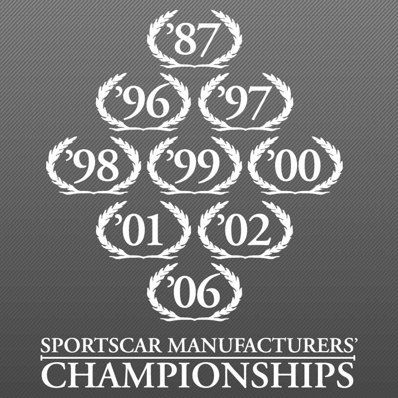 Wreath Decal, SCCA Champion, 07-09 S281