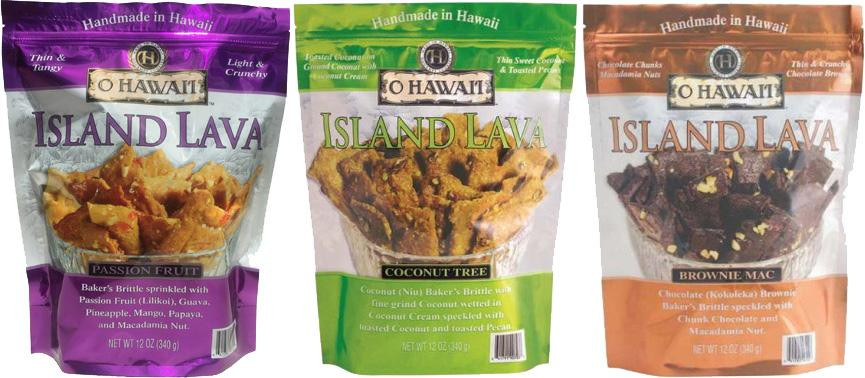 MORE LAVA - Island Lava Baker's Brittle 2oz to 12oz Bags.