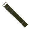 Premium Nato Strap in Olive with Polished Silver Buckle (18mm) - Nomad Watch Works Malaysia