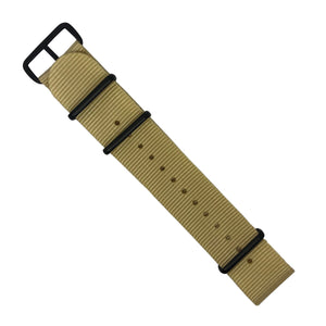 Premium Nato Strap in Malt with PVD Black Buckle (22mm) - Nomad Watch Works MY