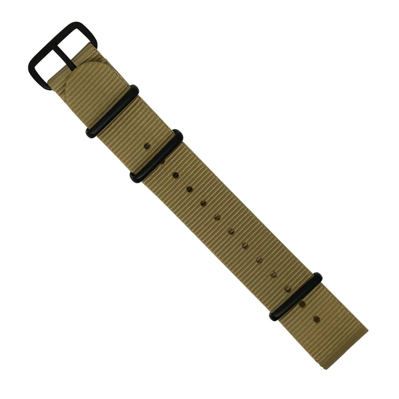 Premium Nato Strap in Malt with PVD Black Buckle (20mm) - Nomad Watch Works MY