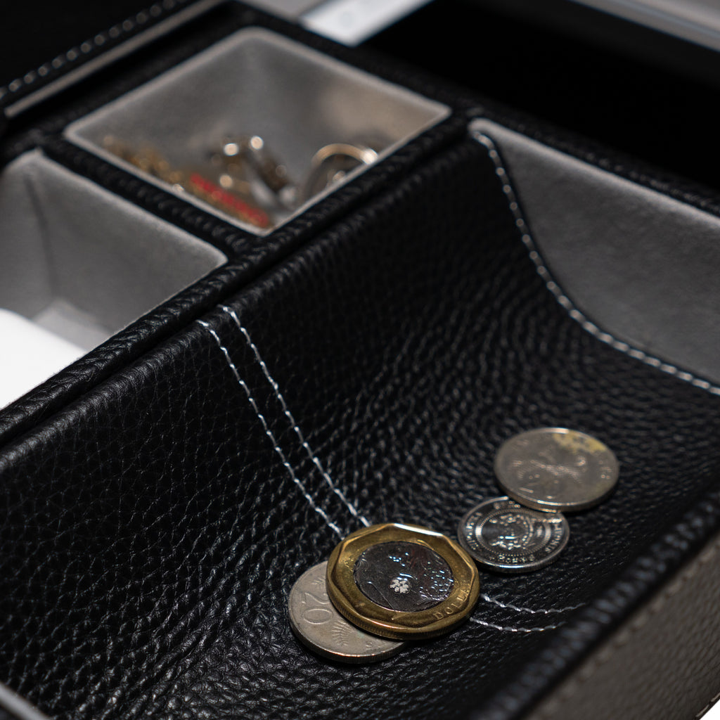 Leather Valet Tray in Black - Nomad Watch Works Malaysia