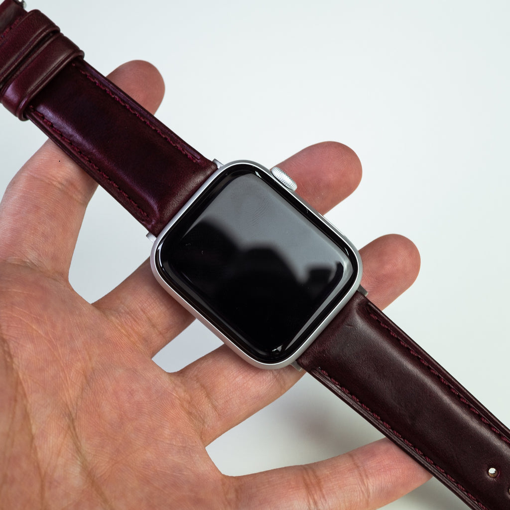 N2W Classic Horween Leather Strap in Chromexcel® Burgundy (38 & 40mm)